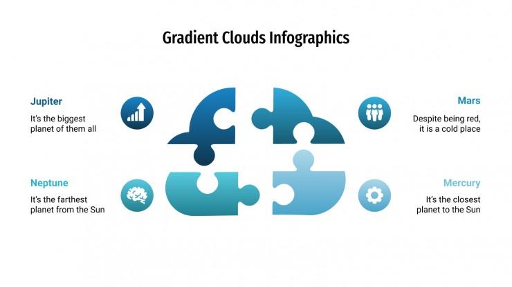 Infographies dégradées de nuages : Modèles de présentation