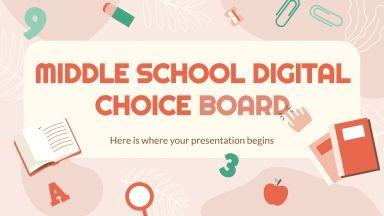 Plantilla de presentación Tablero de actividades para primaria