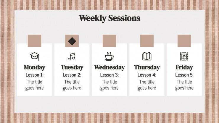 Modelo de apresentação Agenda de tweed para professores