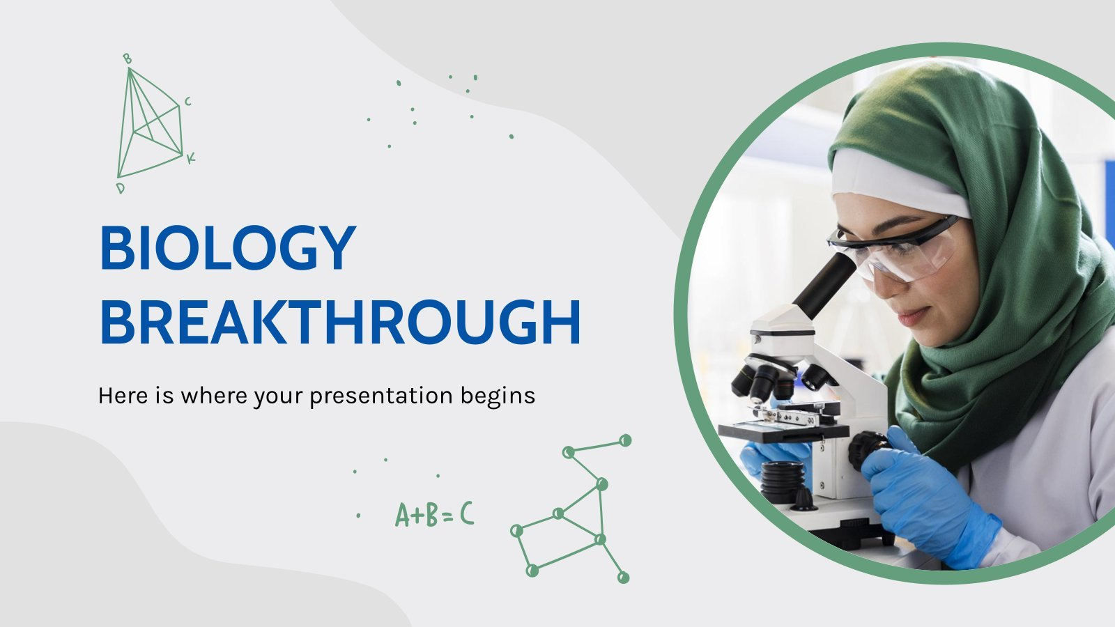 Biology Breakthrough presentation template