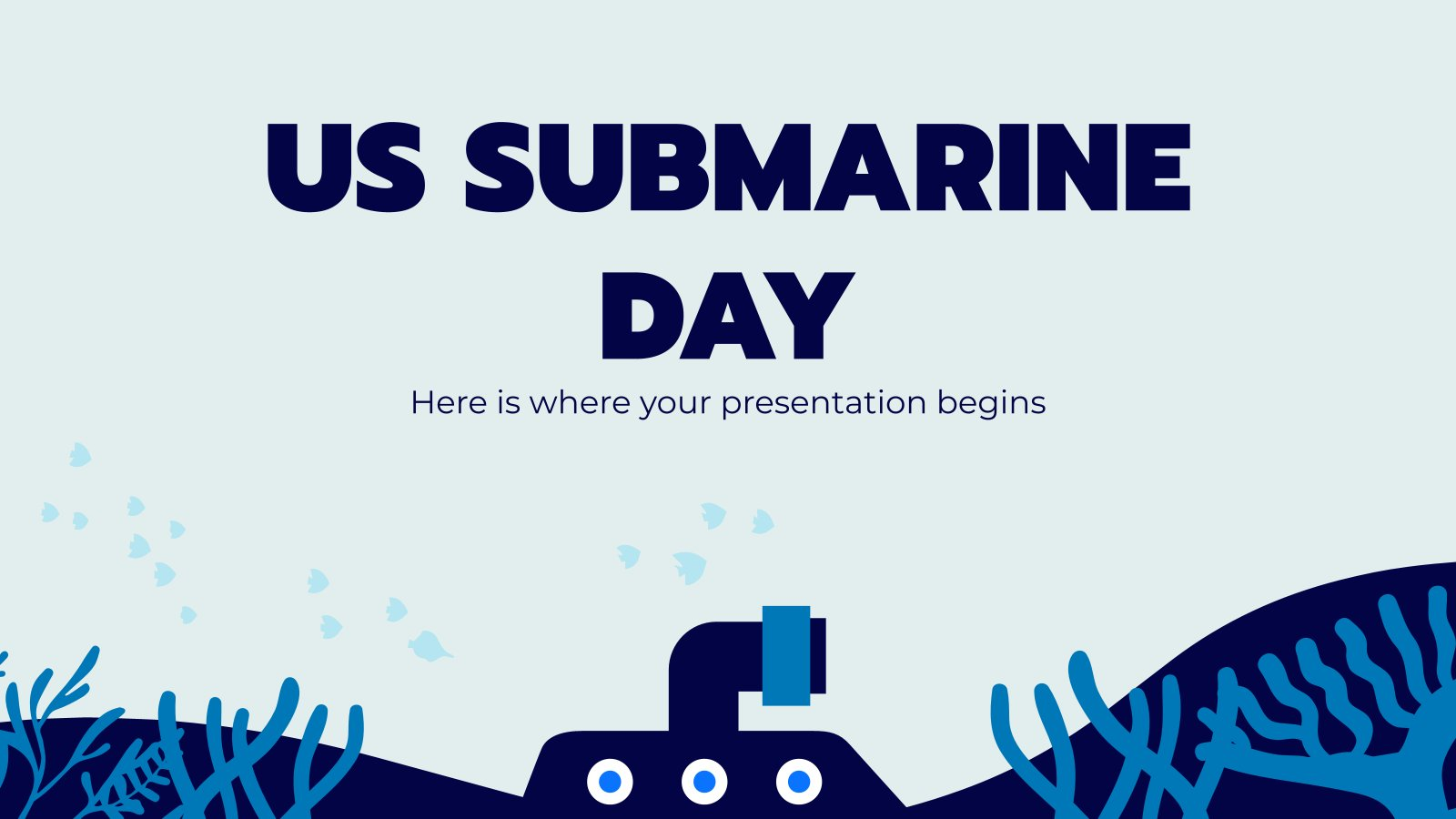 US Submarine Day presentation template
