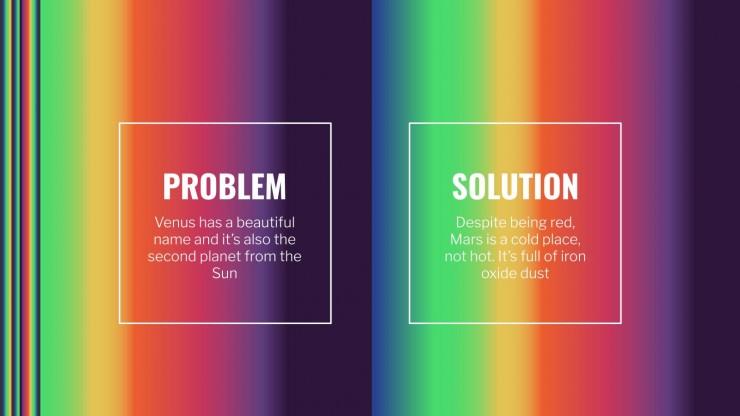 Arrière-plan de multimarketing avec des dégradés et bugs : Modèles de présentation