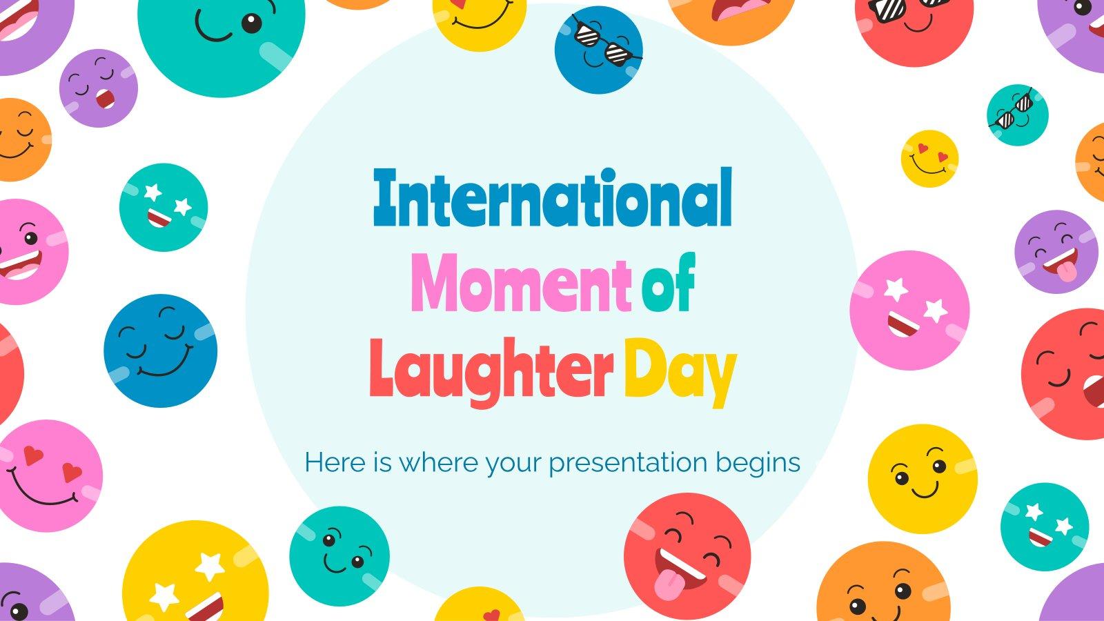 Plantilla de presentación Día Internacional del Momento de la Risa
