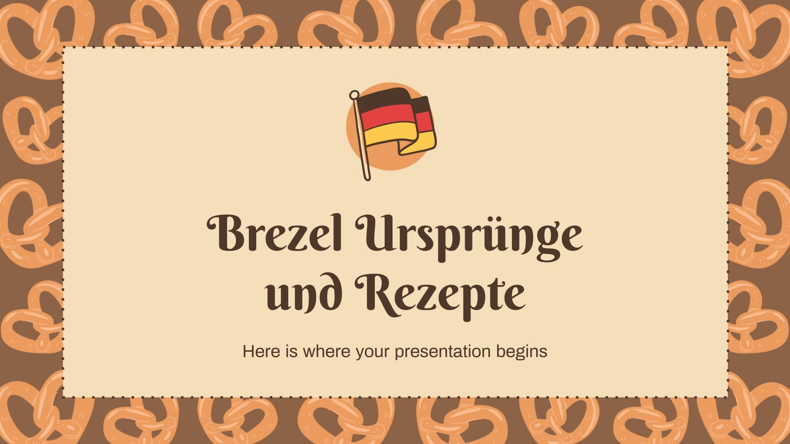 Plantilla de presentación Brezel Ursprünge und Rezepte