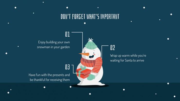 Modelo de apresentação Presentes de Natal
