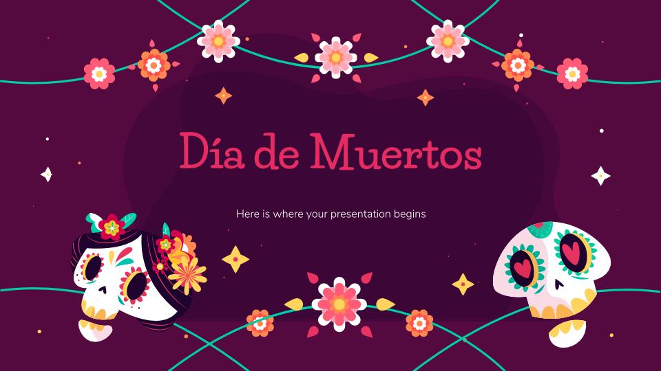 Plantilla de presentación Día de Muertos