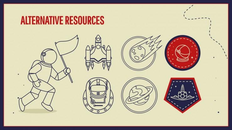 Plantilla de presentación Día de los Vuelos Espaciales Tripulados