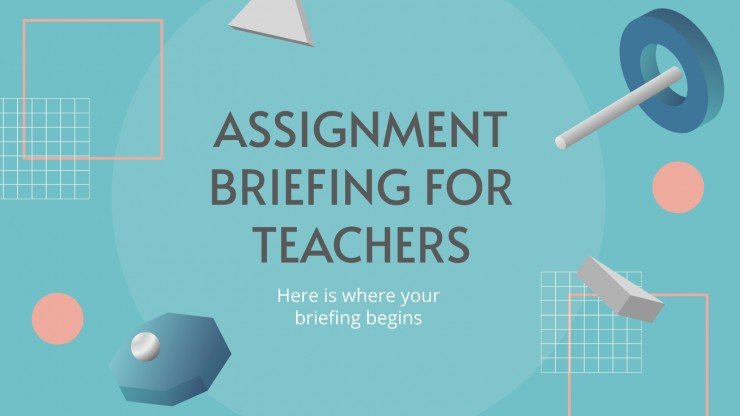 Assignment Briefing for Teachers presentation template