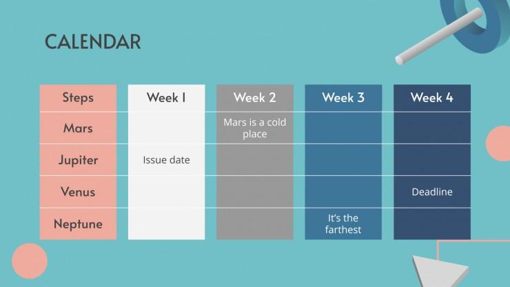 Modelo de apresentação Explicação de trabalho