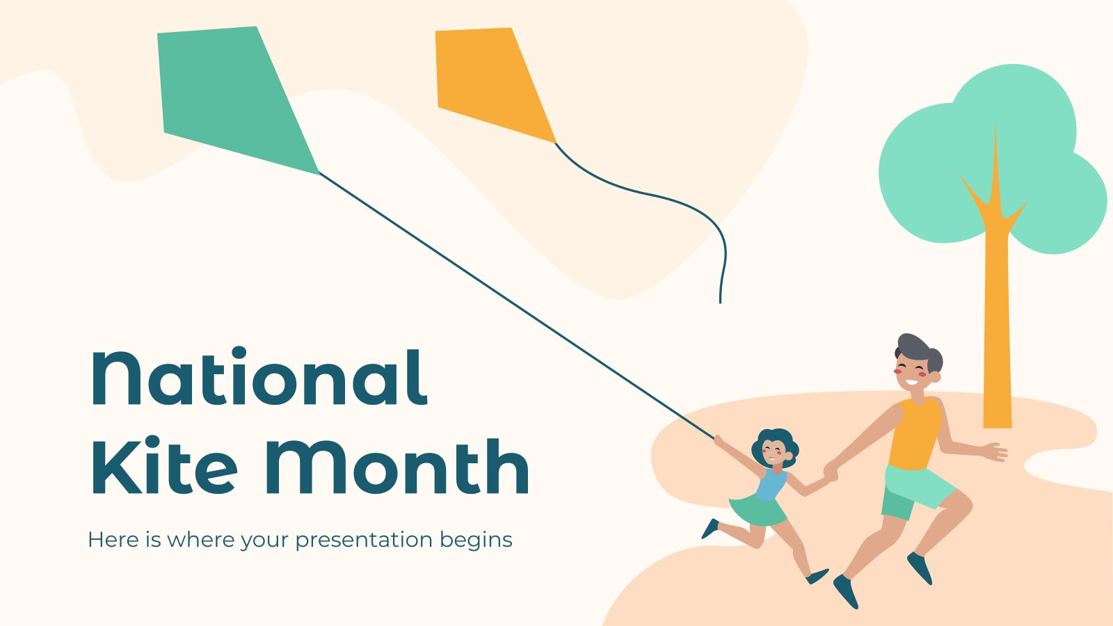 National Kite Month presentation template