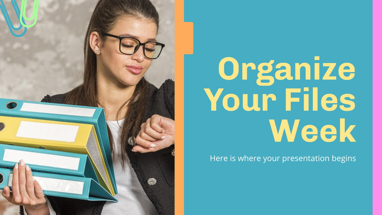Organize Your Files Week presentation template