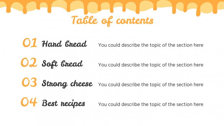 Grilled Cheese Sandwich Recipes presentation template