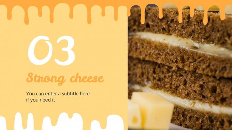 Modelo de apresentação Receitas de sanduíche de queijo quente