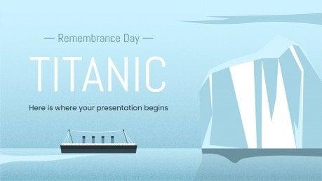 Le jour du souvenir du Titanic : Modèles de présentation