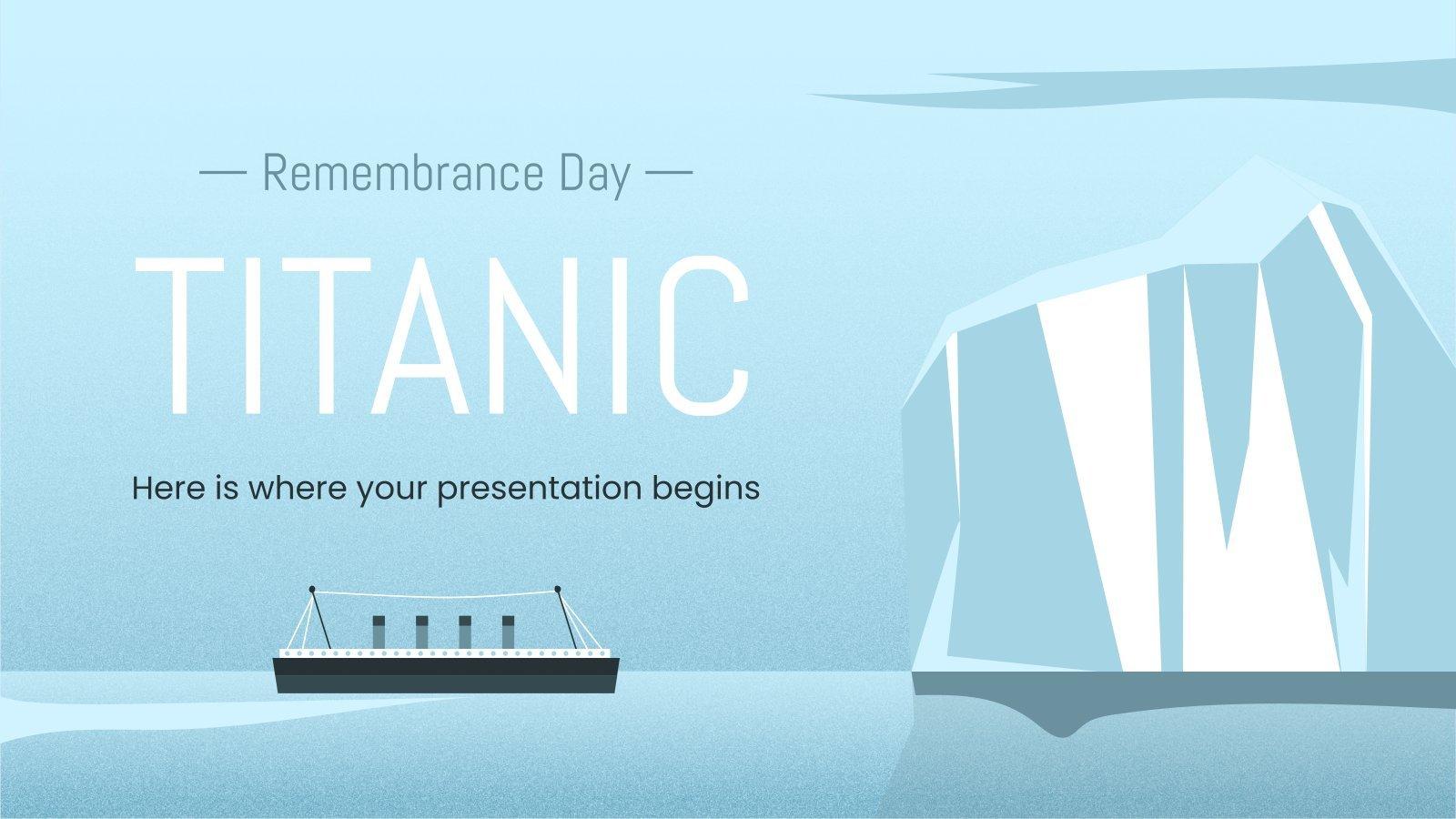 Modelo de apresentação Dia da Memória do Titanic