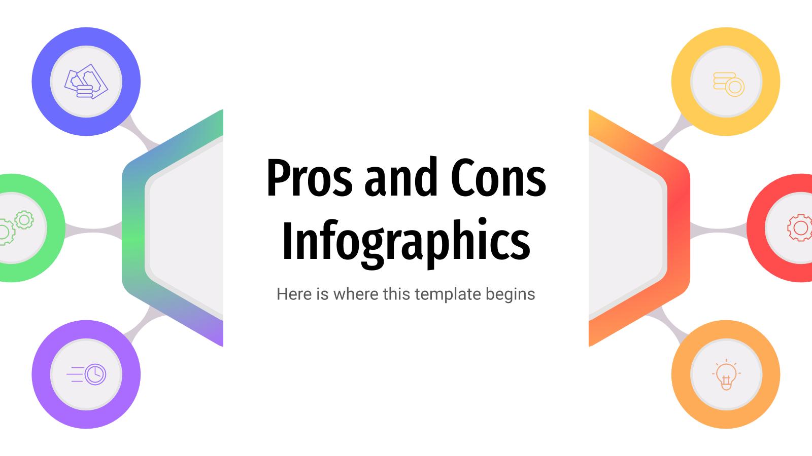 Infographies des avantages et des inconvénients : Modèles de présentation