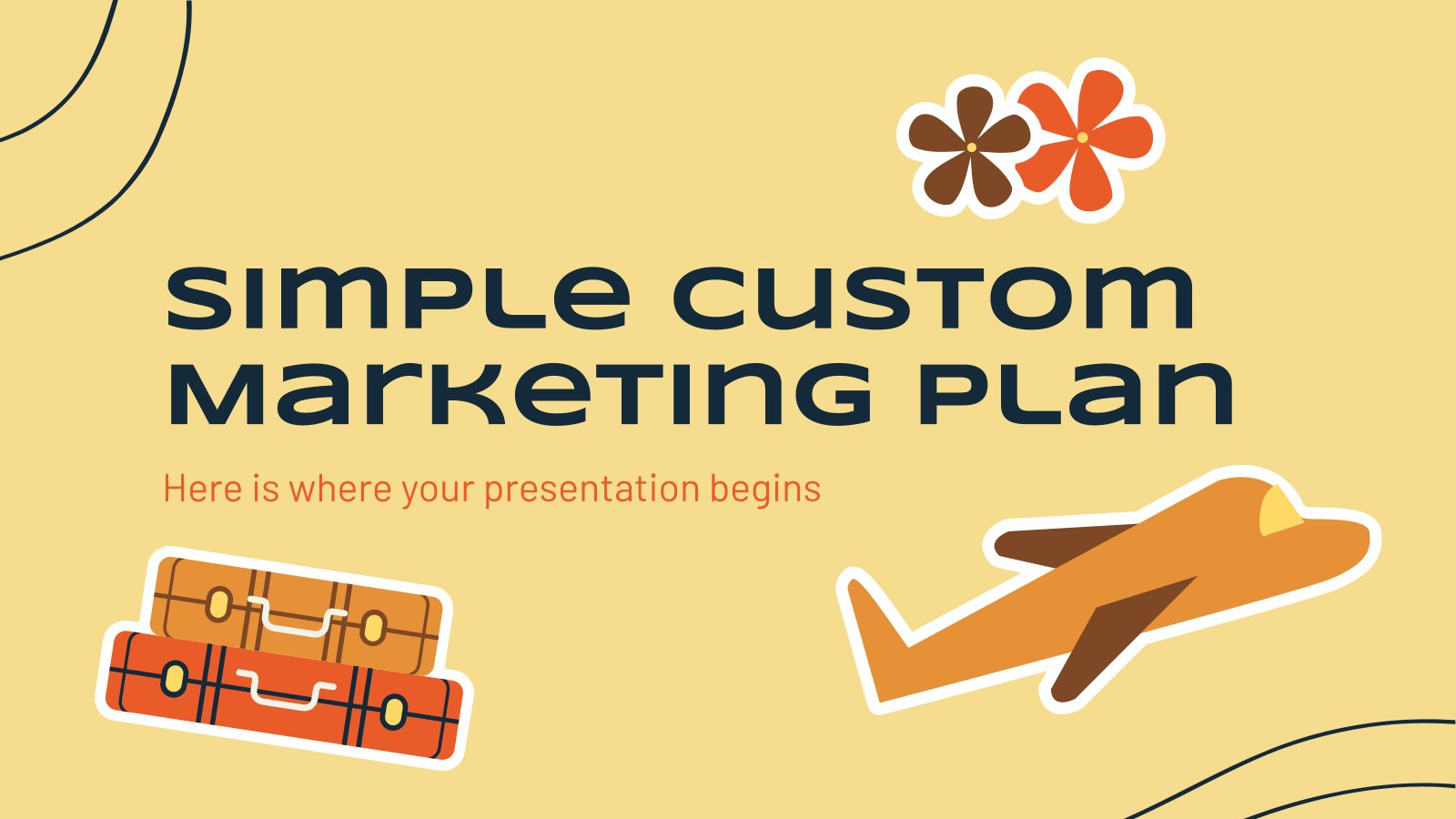 Simple Custom Marketing Plan presentation template