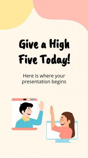 Give a High Five Today! presentation template