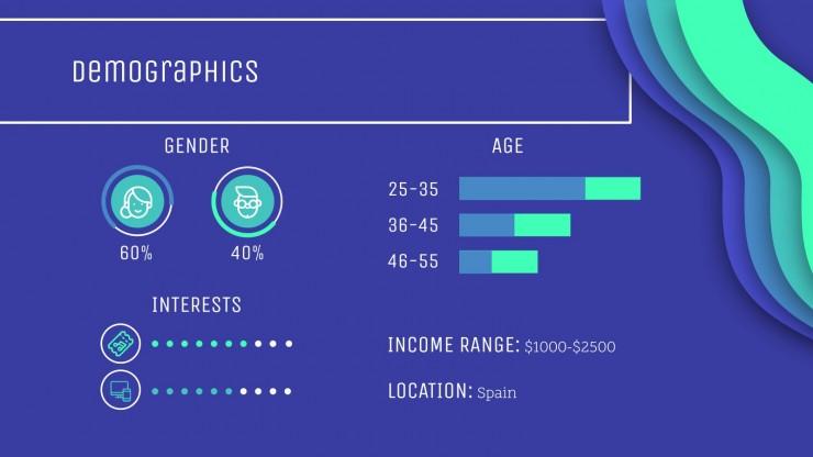 Entreprise bleue : Modèles de présentation