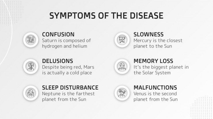 La maladie à corps de Lewy : Modèles de présentation