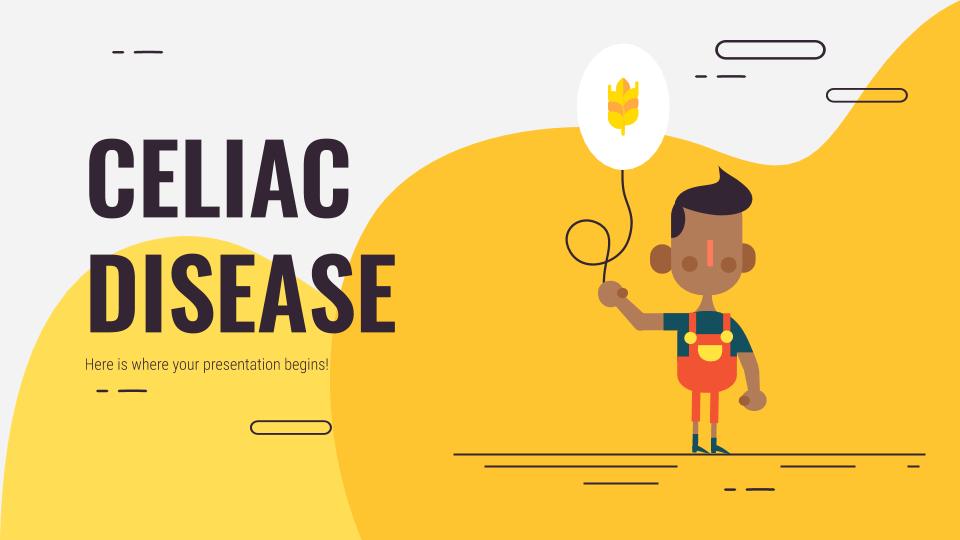 La maladie cœliaque : Modèles de présentation