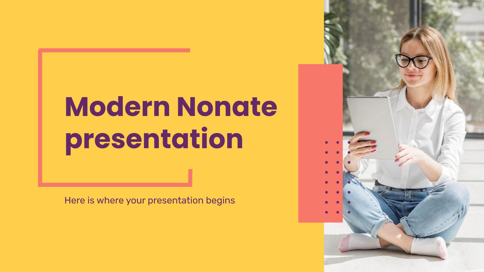 Plantilla de presentación Presentación Nonate moderna