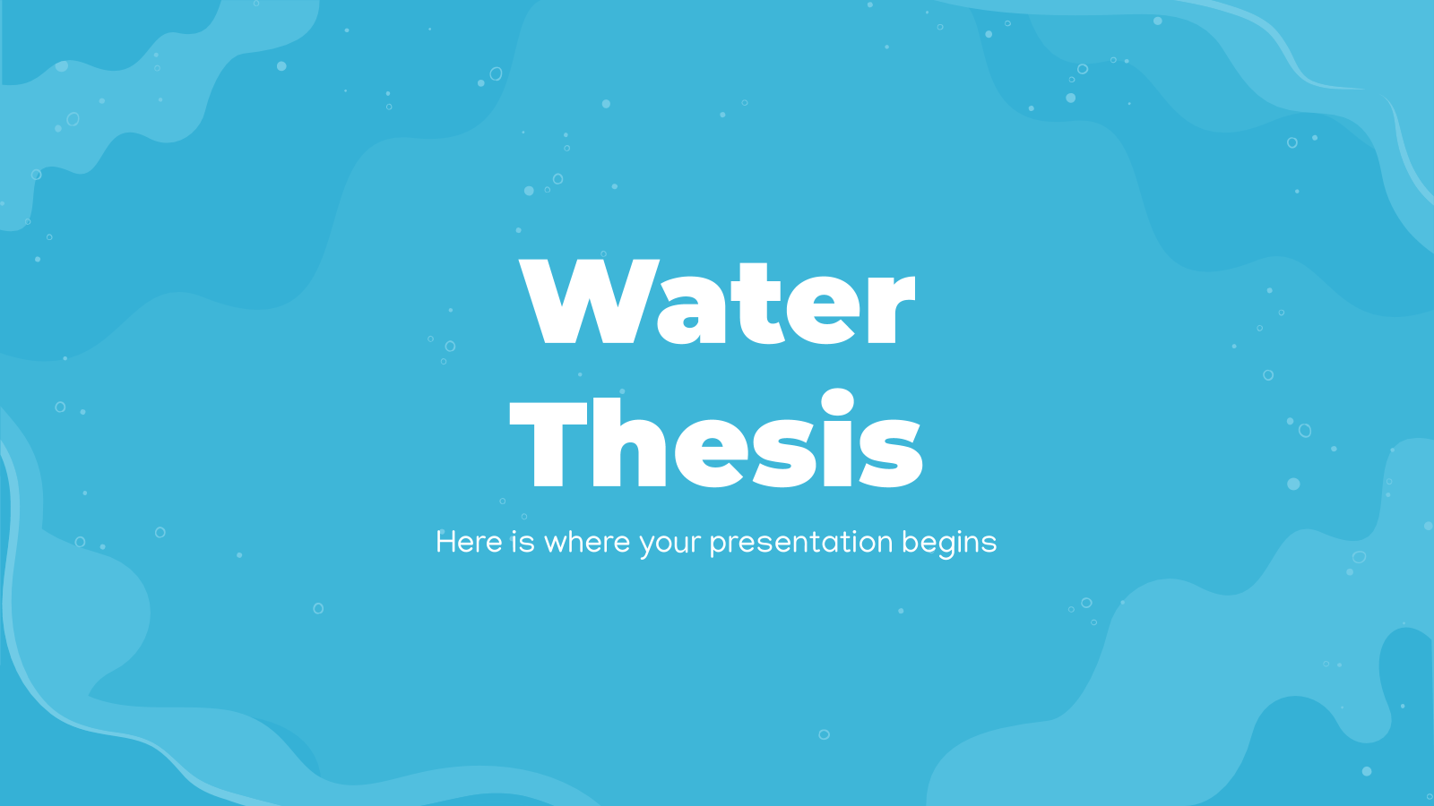 Water Thesis presentation template