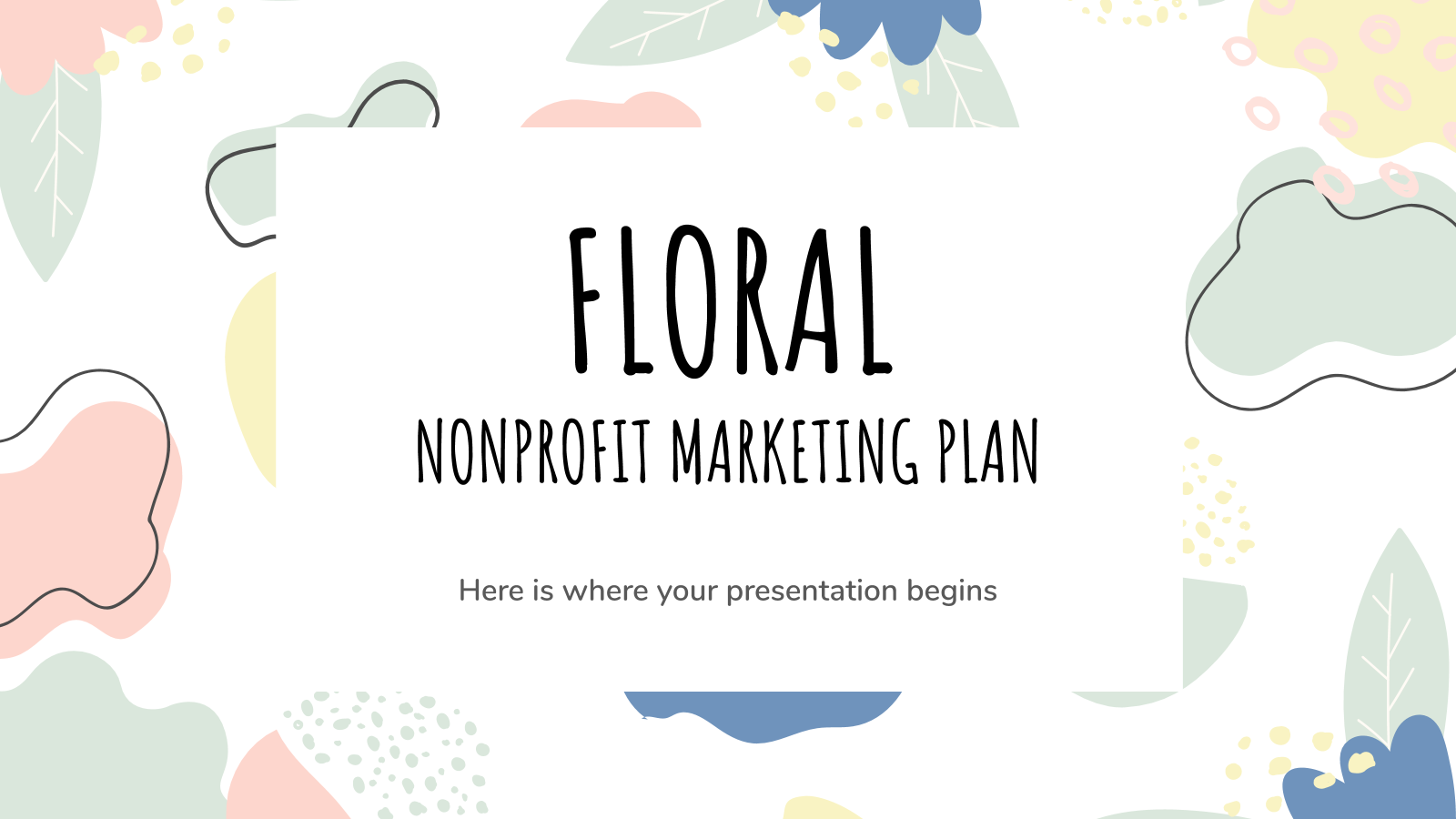 Floral Nonprofit Marketing Plan presentation template
