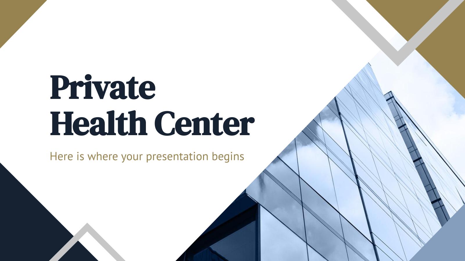 Plantilla de presentación Centro de salud privado