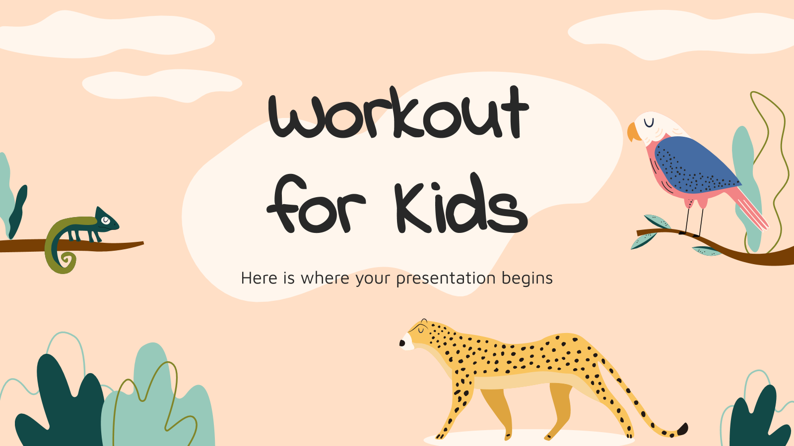 Workout for kids presentation template
