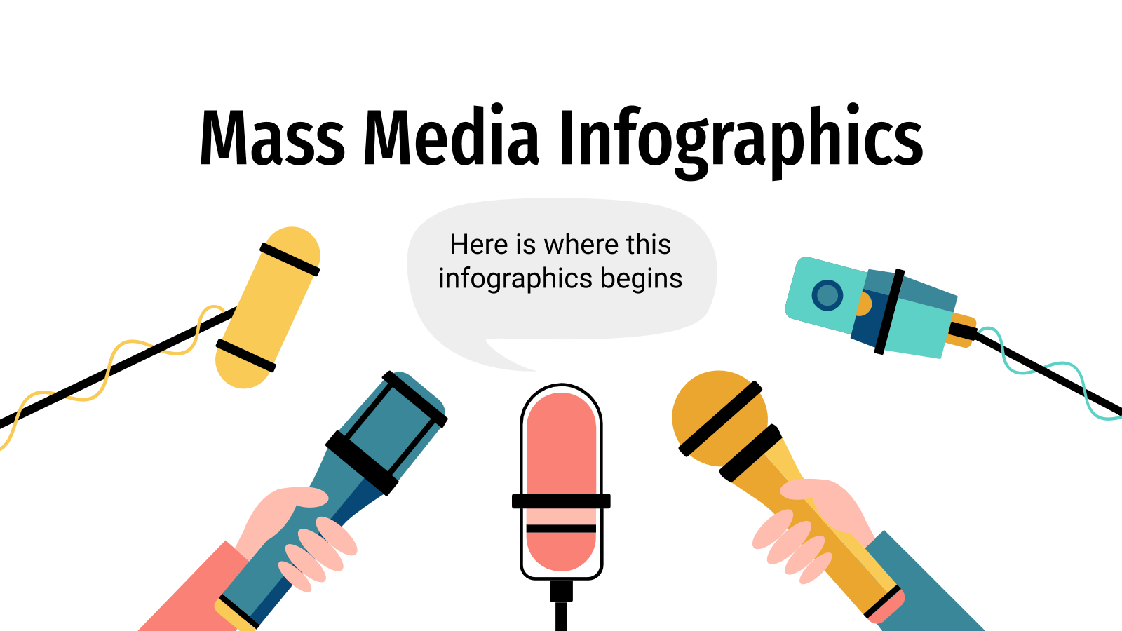 Mass media infographics presentation template