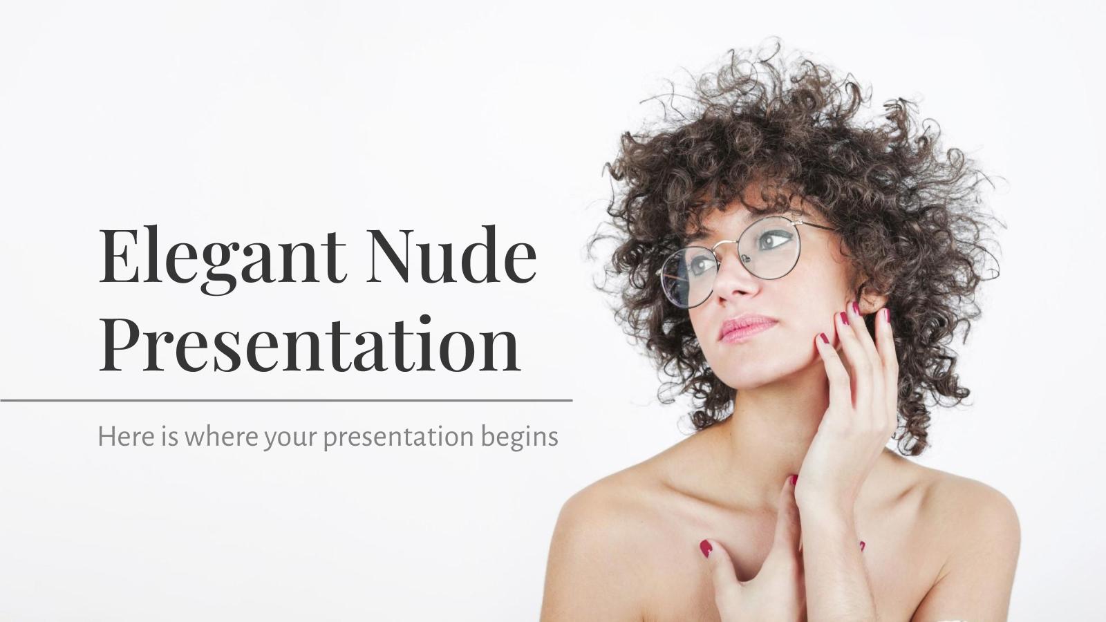 Elegante Nude Präsentation Präsentationsvorlage