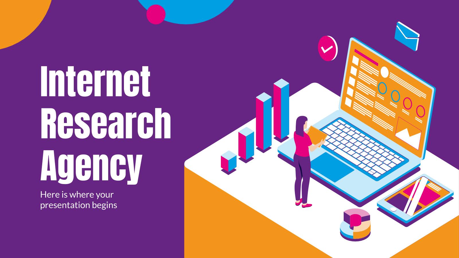 Plantilla de presentación Agencia investigación Internet