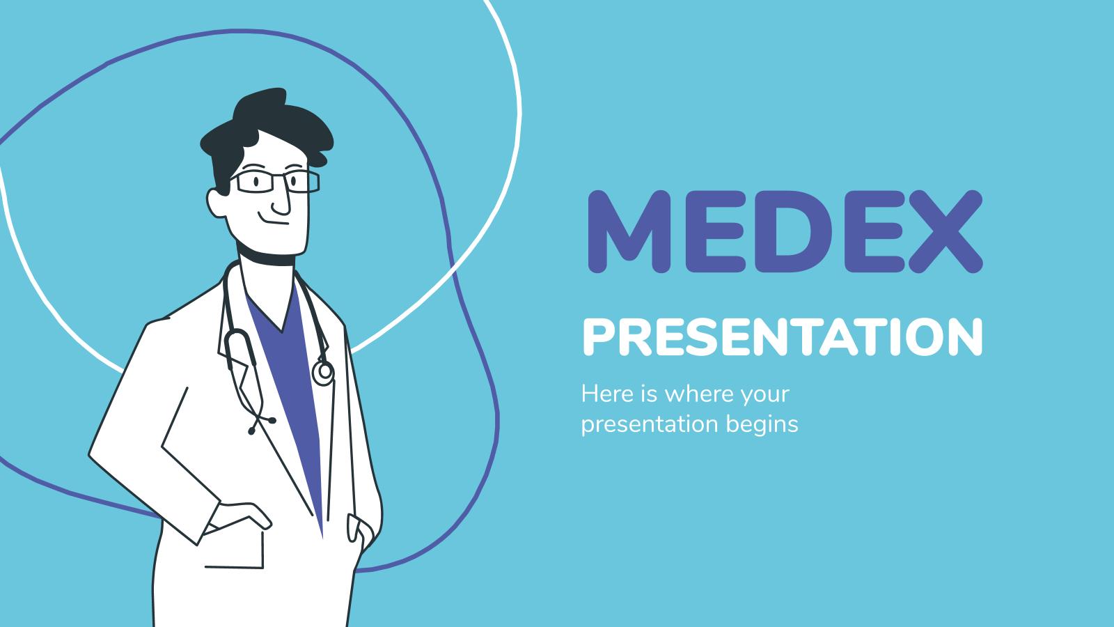 Plantilla de presentación Medex Präsentation