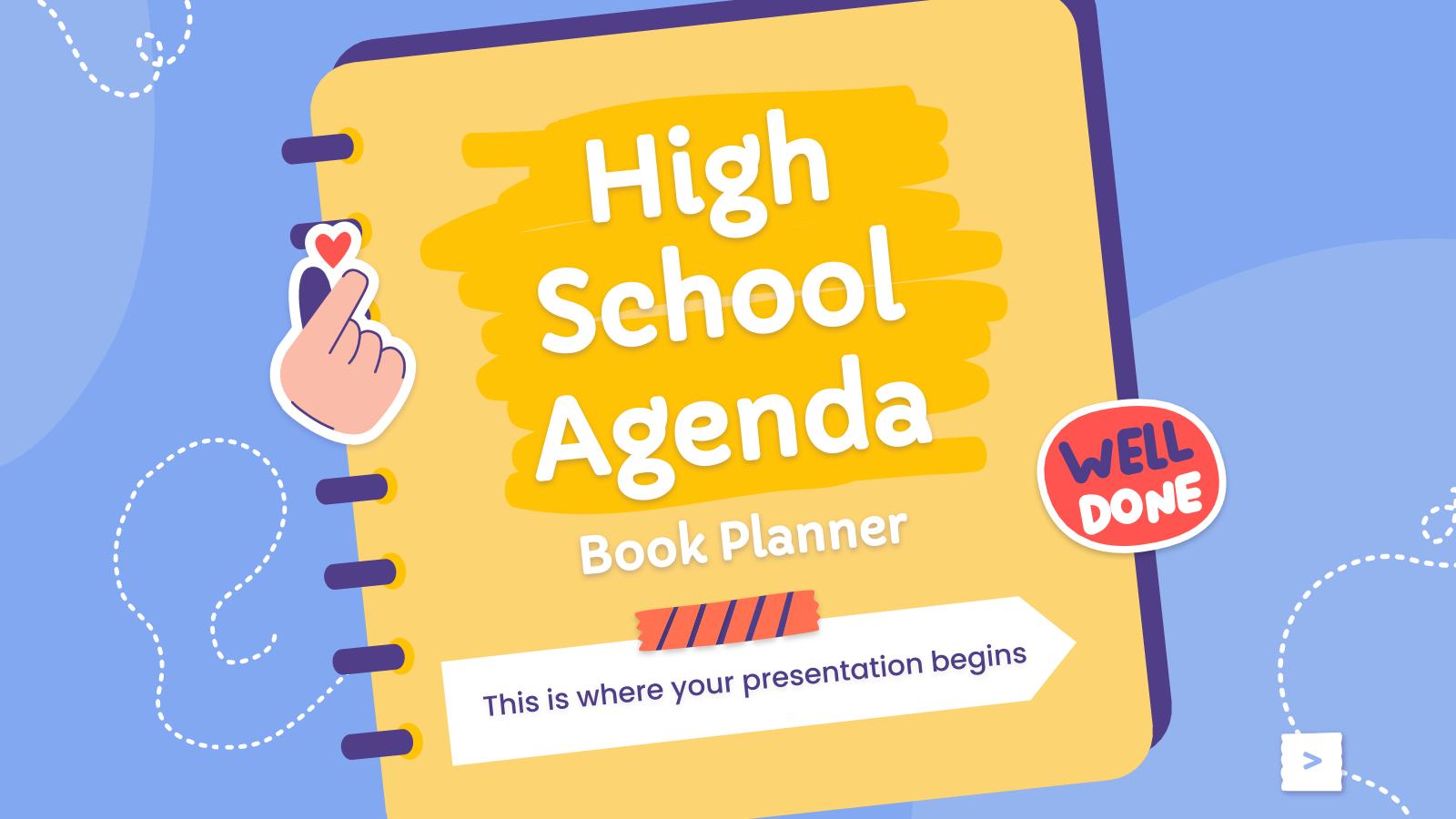 Agenda pour le lycée - Planificateur : Modèles de présentation