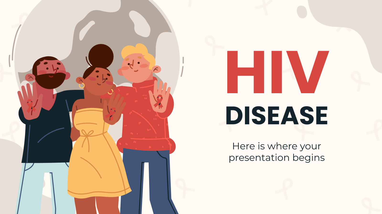 Plantilla de presentación Enfermedad del VIH