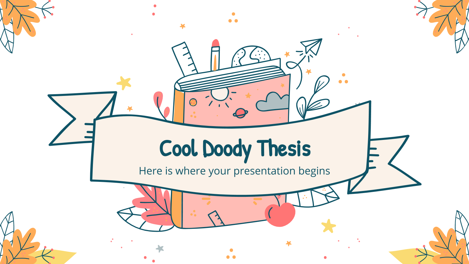 Cool Doody thesis presentation template