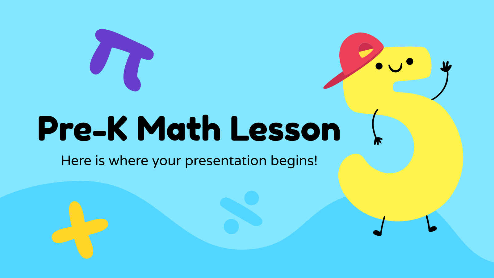 Math Pre-K Lesson presentation template