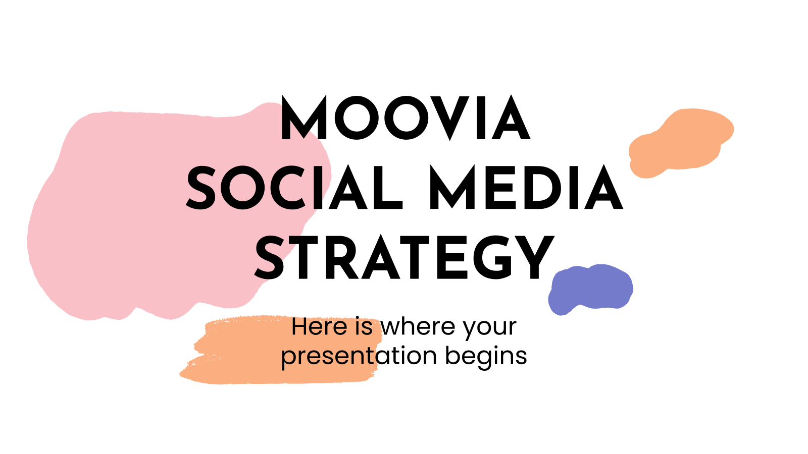 Moovia social media strategy presentation template
