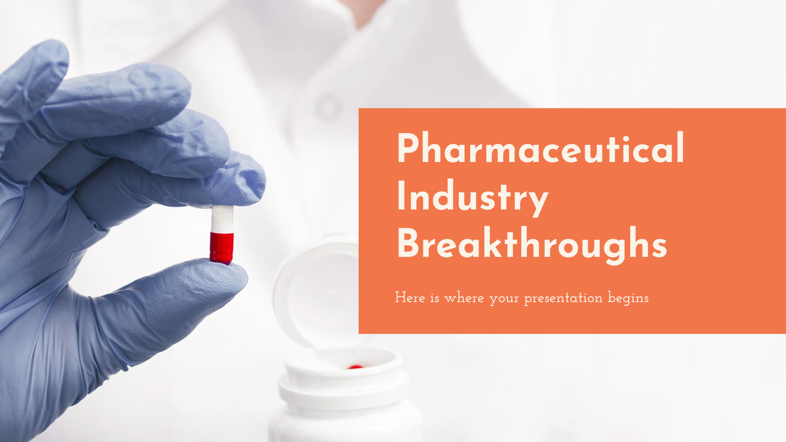 Pharmaceutic Industry breakthroughs presentation template