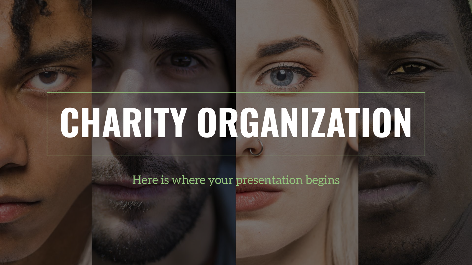 Charity Organization Business plan presentation template