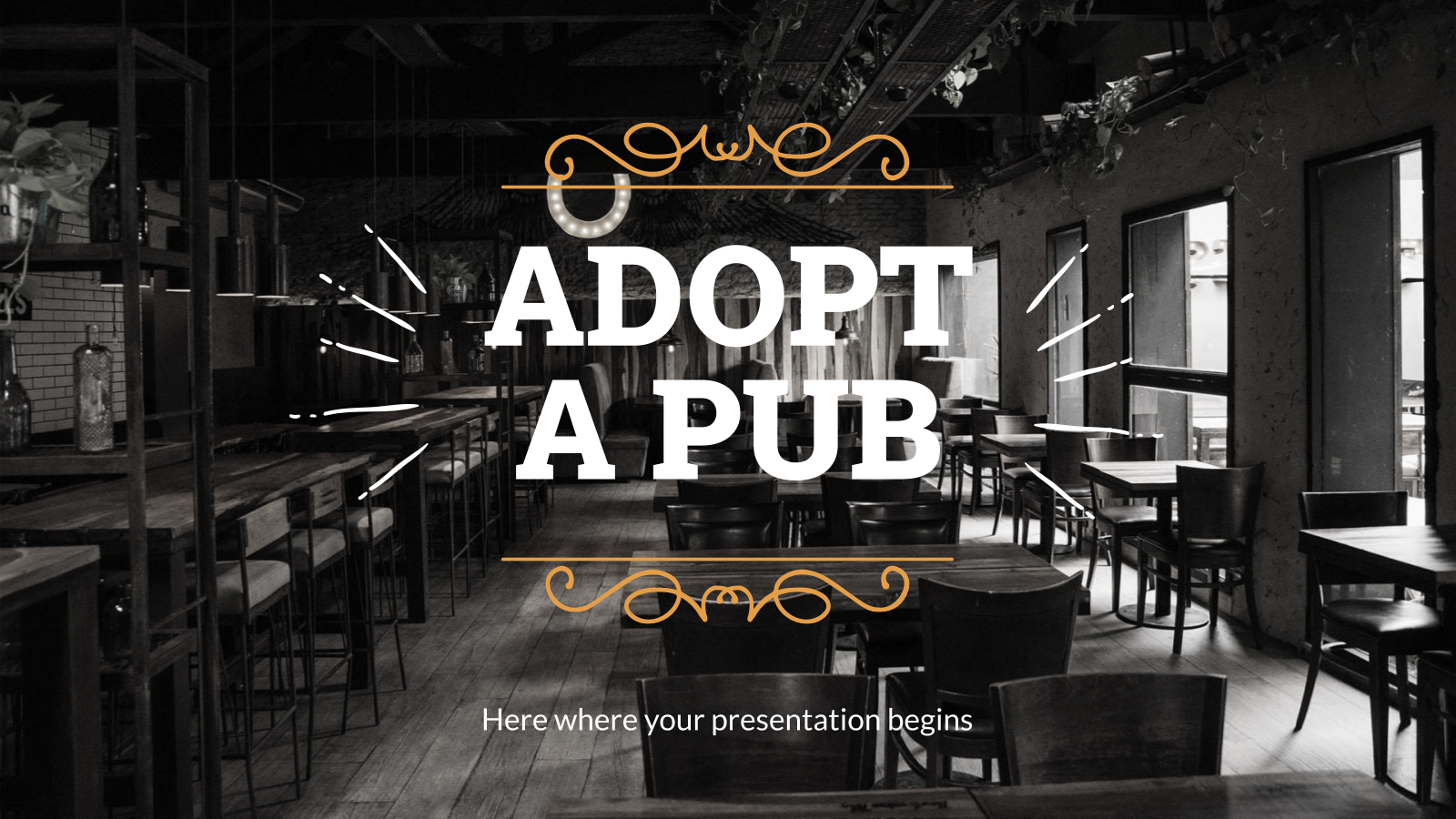Adopt a pub pitch deck presentation template