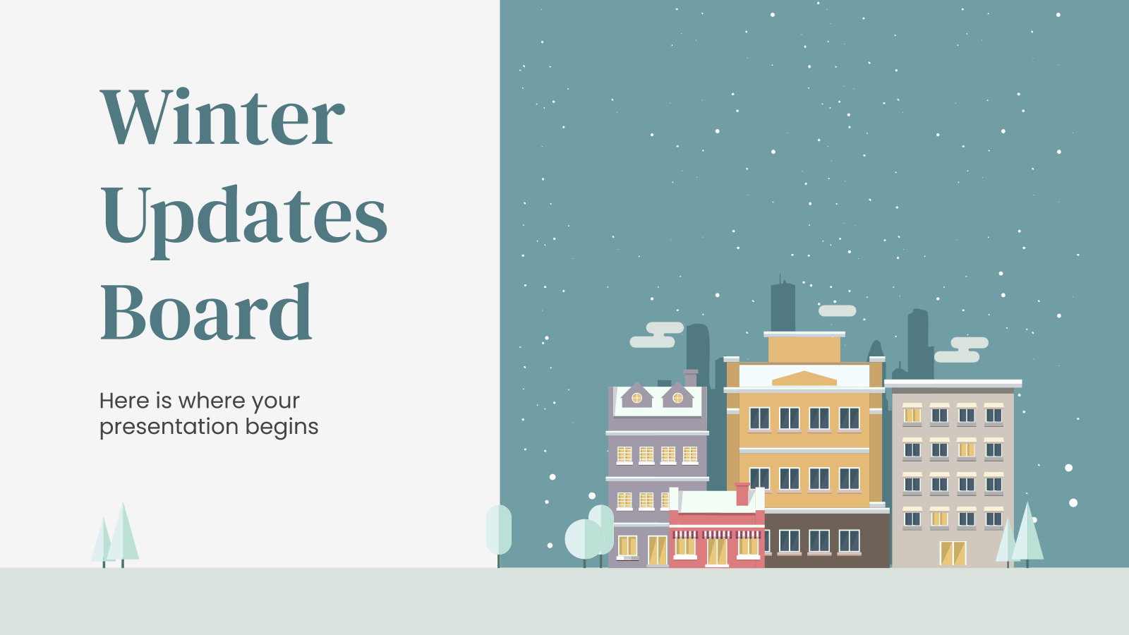 Winter Updates Board presentation template