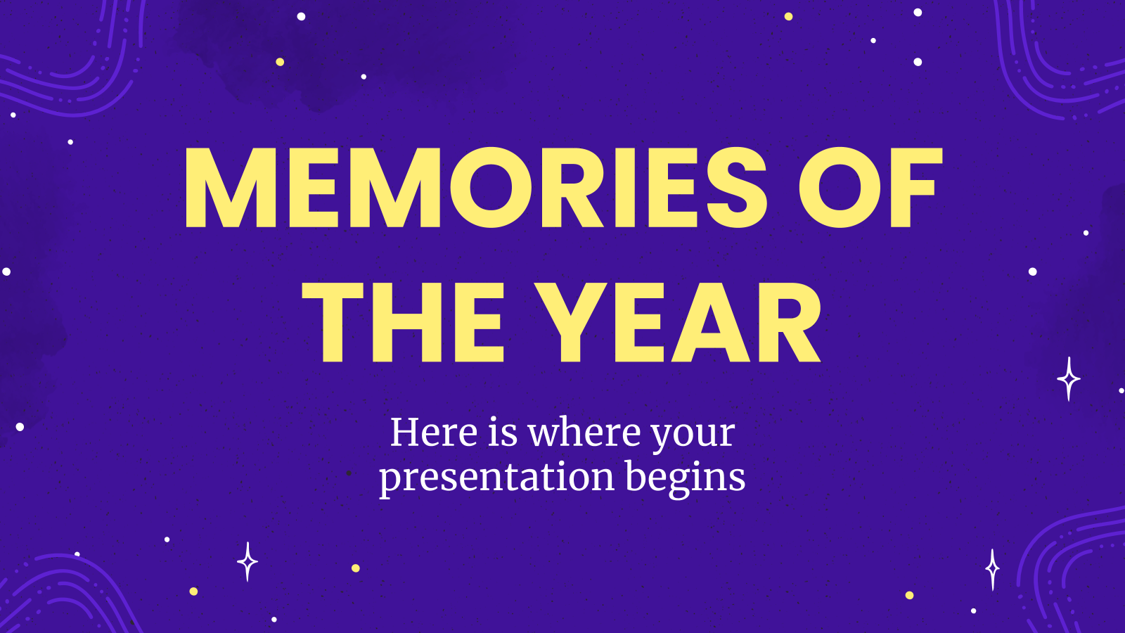 Memories of the Year presentation template