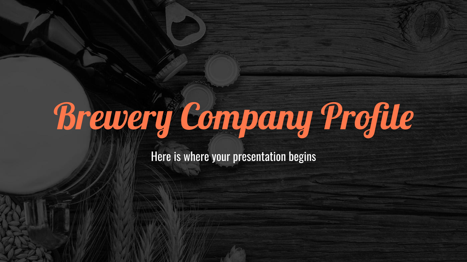 Brewery Company Profile presentation template