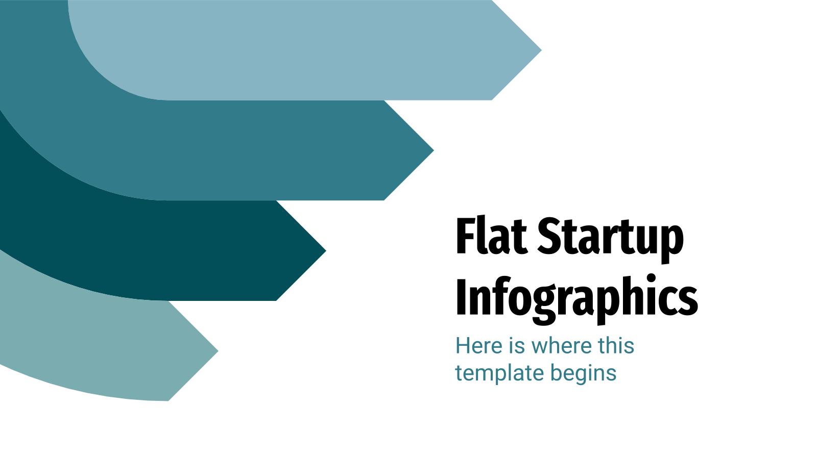 Modelo de apresentação Infográficos para start-ups