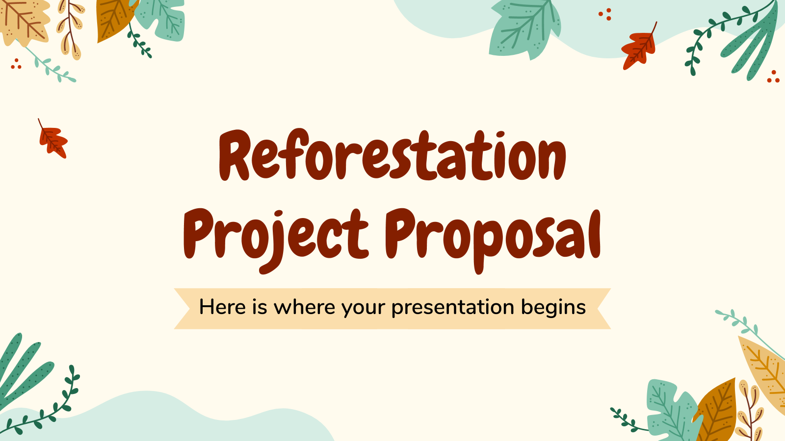 Reforestation Project Proposal presentation template