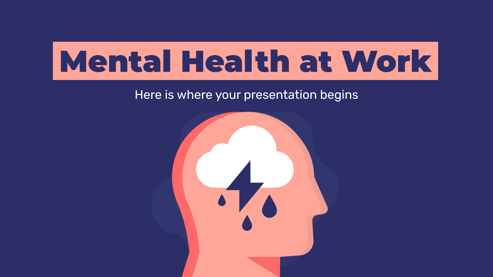 Mental Health at Work presentation template