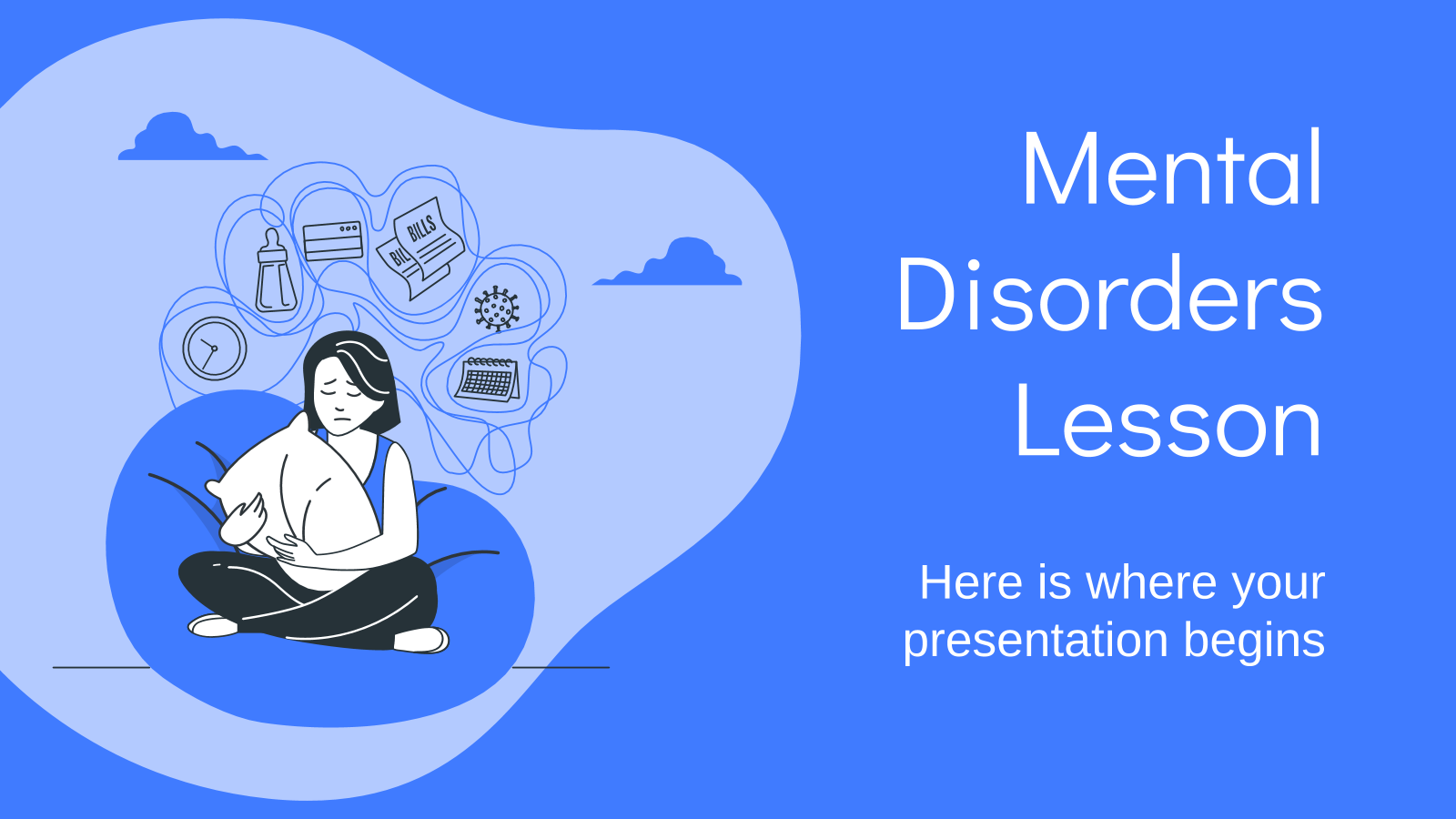 Mental Disorders Lesson presentation template
