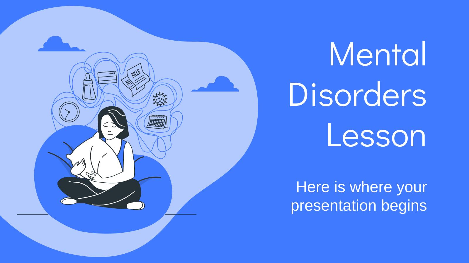 Modelo de apresentação Aula de transtornos mentais